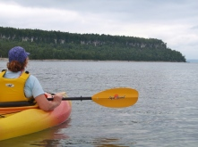 Our first kayak, going North along the Bruce Peninsula