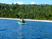 Kayaking South from the cottage along the Bruce Peninsula