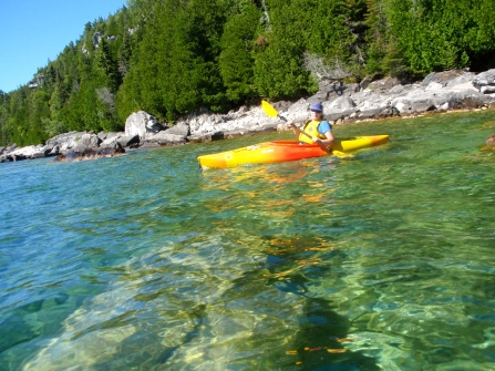 Pat heading down the Bruce Peninsula