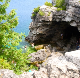 A cave on the Georgian Bay Coast, Bruce Trail